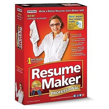 Individual Software – Logiciel de création de CV ResumeMaker Pro Deluxe 18 pour Windows (1 utilisateur) [téléchargement]