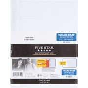 "Five Star Reinforced Filler Paper, 8-1/2"" x 11, White, College Rule, 100 Sheets (17102)"