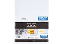 Five Star® Reinforced Filler Paper, White, College Rule, 8-1/2' x 11, 100 Sheets