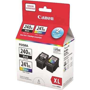 Canon® PG-240XL/C241XL High Yield, Ink Cartridges, Value Pack