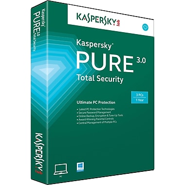 Kaspersky PURE 3.0 Total Security for Windows (1-3 User) [Download]
