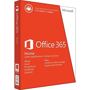 Office 365 Home, 1-year subscription [Product Key Card]