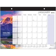 AT-A-GLANCE 2015 Successories® 1-Page-Per-Month Motivational Calendar, Jan.-Dec., Desk Pad, 22 x 17