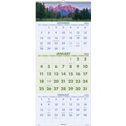 At-A-Glance 2015 Visual Organizer Recycled Scenic Three-Month Wall Calendar, Dec.-Jan., Wall, 12 1/4 x 27