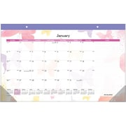2015 AT-A-GLANCE® Watercolors Monthly Compact Desk Pad, 17 3/4 x 10 7/8