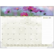 2015 AT-A-GLANCE® Floral Panoramic Desk Pad, 22 x 17