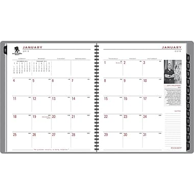 AT-A-GLANCE® Wounded Warrior Project® Monthly Planner, 8 7/8in. x 11in., 2015