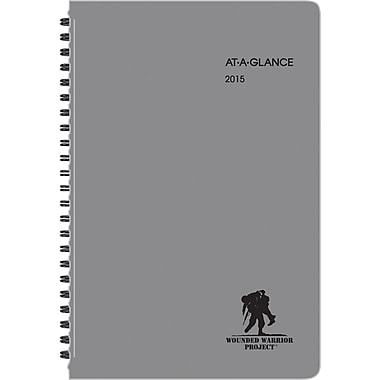 "AT-A-GLANCE® Wounded Warrior Weekly/Monthly Planner, 4 7/8"" x 8"", 2015"