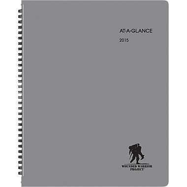 "AT-A-GLANCE® Wounded Warrior Large Weekly/Monthly Appointment Book, 8 1/4"" x 10 7/8"", 2015"