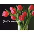 Custom Postcards Medical Red Tulips