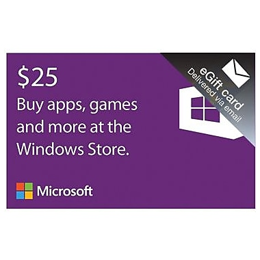 Microsoft Windows Store Gift Card $25 for Windows (1 User) [Download]