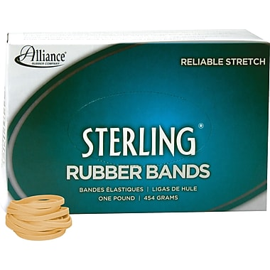 Alliance Sterling Rubber Bands, #32 (3in. x 1/8in.), Approzimately 950/1 Lb. Box