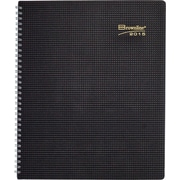 Brownline® 2015 Duraflex Monthly Planner, Textured Poly Cover, Black 8-7/8 x 7-1/8