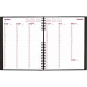 2015 Brownline® CoilPro® Hard Cover Weekly Planner, Black, 11 x 8-1/2