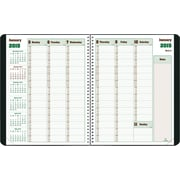 2015 Blueline® DuraGlobe™ soft cover Weekly Planner, Sugarcane based paper, Black, 11 x 8-1/2