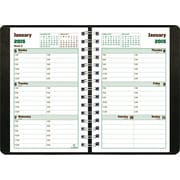 2015 Blueline® DuraGlobe™ Soft Cover Weekly Planner, Sugarcane based paper, Black,  8 x 5