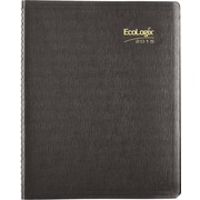 2015 Brownline® EcoLogix® Soft Cover Weekly Planner, 100% post-consumer recycled paper, Black, 11 x 8-1/2