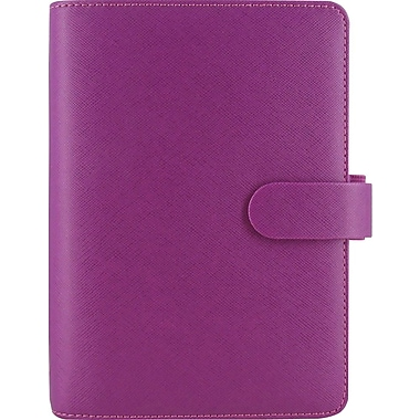 2015 Filofax Weekly Organizer - Saffiano, Personal Size, Raspberry Leather, Grain-look Cover, Paper Size:  3-3/4in. x 6-3/4in.