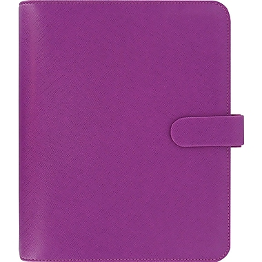 2015 Filofax Weekly Organizer - Saffiano, A5 Size, Raspberry Leather, Grain-look Cover, Paper Size: 8-1/4in. x 5-3/4in.