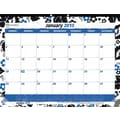 Rediform® Zebra Design Monthly Desk Pad, 22in. x 17in.