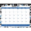 "2015 Brownline® Monthly Desk Pad, Colorful Blossom Design, 22"" x 17"""