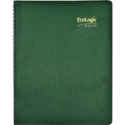 2015 Brownline® EcoLogix® Soft Cover Monthly Planner, 100% recycled paper, Green, 11 x 8-1/2