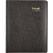 2015 Brownline® EcoLogix® Soft Cover Monthly Planner, 100% recycled paper, Black, 11 x 8-1/2