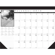 House of Doolittle™ 2015 , Monthly, December-December, Black on White Desk Pad Calendar, 22 x 17