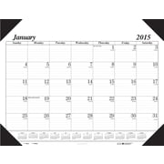 House of Doolittle™ 2015 , Monthly, January-December, Black Desk Pad Calendar, 22 x 17