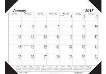 House of Doolittle™ 2015 Monthly, January-December, Cream/Brown Desk Pad, 22' x 17'