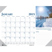 House of Doolittle™ 2015 , Monthly, January-December, Scenic Desk Pad Calendar, 22 x 17