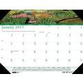 House of Doolittle™ 2015 , Monthly, January-December, Gardens Desk Pad Calendar, 22in. x 17in.
