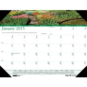 House of Doolittle™ 2015 , Monthly, January-December, Gardens Desk Pad Calendar, 22 x 17