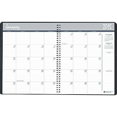House of Doolittle™ 2015 Monthly, December-January, Planner, Blue/Black, 8 1/2in. x 11in.