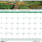 House of Doolittle™ 2015 , Monthly, January-December, Gardens, Wall Calendar, 12 x 12
