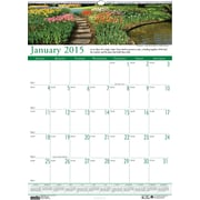 House of Doolittle™ 2015 , Monthly, January-December, Gardens, Wall Calendar, 12 x 16 1/2