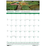 House of Doolittle™ 2015 , Monthly, January-December, Gardens, Wall Calendar, 15 1/2 x 22