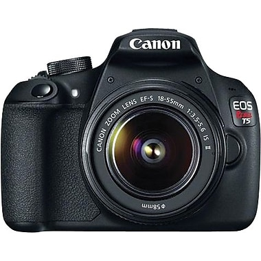 Canon EOS Rebel T5 18-55 IS II Digital Camera, Black