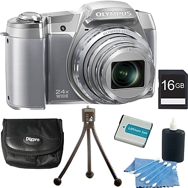 Olympus Stylus SZ-16 iHS 16MP Digital Camera Kit