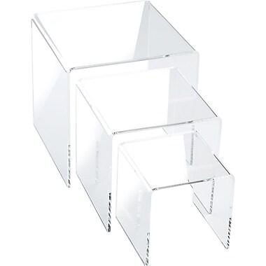 Small Square Acrylic Risers, 3
