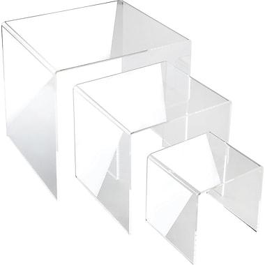 Large Square Acrylic Risers, 4