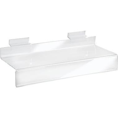 Acrylic Slatwall Shelves with 1