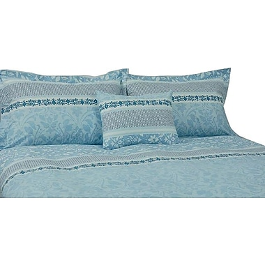 Organicque Palma Reversible Duvet Cover with 1 Sham, Twin