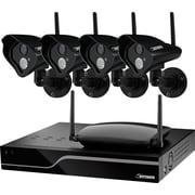 Defender 21305 Sentinel Pro Wireless 4CH 1TB DVR 4 Wireless 520TVL Camera, Indoor/Outdoor, Black