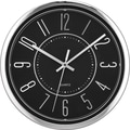 Victory 12in. Wide Profile Clock, Black