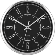 Victory 12 Wide Profile Clock, Black