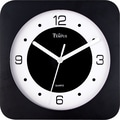 8in. Square Wide Profile Clock, Black