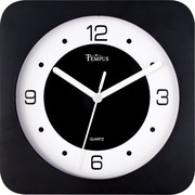 8 Square Wide Profile Clock, Black