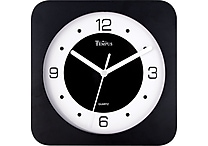 8' Square Wide Profile Clock, Black
