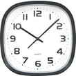 Tempus 12in. Wide Profile Square Clock, Black